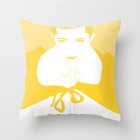 vampire Throw Pillows featuring Vampire by Jessica Slater Design & Illustration