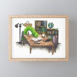 Little Worlds: The Library Framed Mini Art Print
