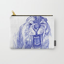 Saber Tooth Tiger. Carry-All Pouch