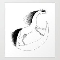 Horsie Art Print