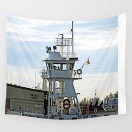 Ship passing Marine Operation Wall Tapestry