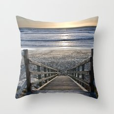 Steps to the Ocean Throw Pillow