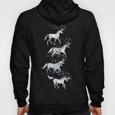 Unicorns and Stars on Soft Grey Hoody