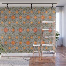 Wild Rose Garden Pattern Peach Wall Mural
