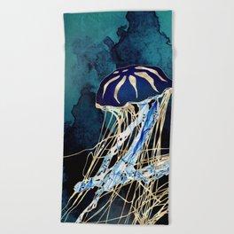 Metallic Jellyfish III Beach Towel