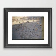 winter dust Framed Art Print