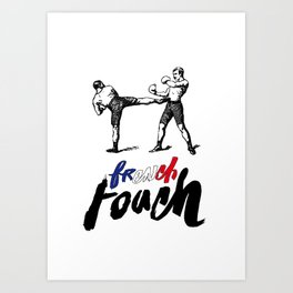 French Boxe Art Print