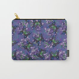 Purple Flowers and Butterflies Carry-All Pouch
