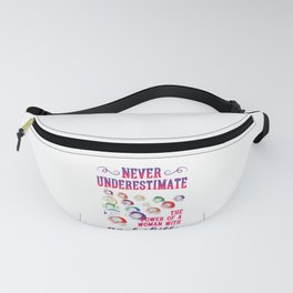 Billiard Sports Hobby Gift Never Underestimate Woman With Pool Skills Fanny Pack