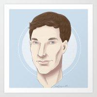 Benedict Cumberbatch Sketch Art Print