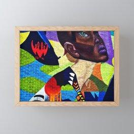 Harlem, NY African-American Female Form Street Art Portrait Photograph Framed Mini Art Print