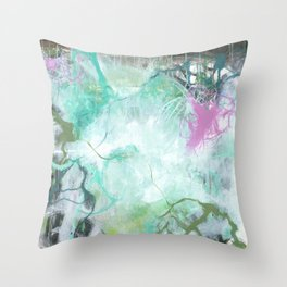 The Queen's Tear - Square Abstract Expressionism Throw Pillow