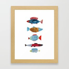 Fish Buddies Framed Art Print