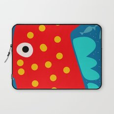 Red Fish illustration for kids Laptop Sleeve