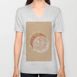 Zodiac Wheel Moon Unisex V-Neck