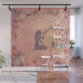 The Graceful Act of Letting Go Wall Mural