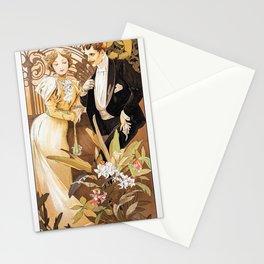 12,000pixel-500dpi - Alfons Mucha - A Seductive Woman - Digital Remastered Edition Stationery Cards
