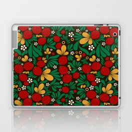 Strawberry pattern in traditional russian style hohloma khohloma Laptop & iPad Skin