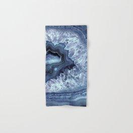 Steely Blue Quartz Crystal Hand & Bath Towel