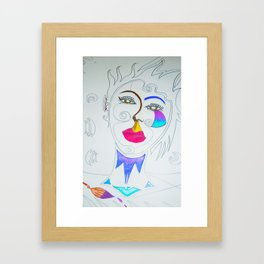 The stylist Framed Art Print