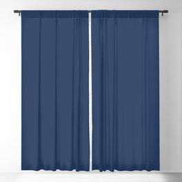 """Navy Peony"" pantone color Blackout Curtain"