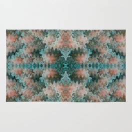 South Western Abstract Mirrored Wavy Pattern Rug