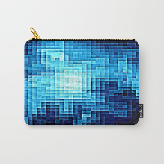 Nebula Pixel Blue Carry-All Pouch