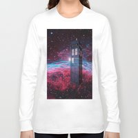 dr who Long Sleeve T-shirts featuring Dr Who police box  by store2u