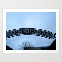 Camden Market Sign Art Print