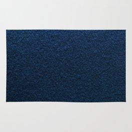 Dark Blue Fleecy Material Texture Rug