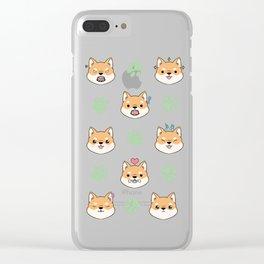 Chibi shiba's Clear iPhone Case