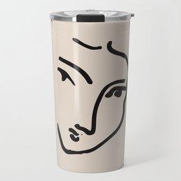 Exhibition poster Henri Matisse-Nadia au menton pointu. 1948 Travel Mug