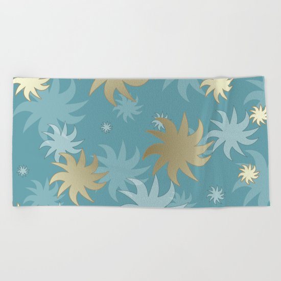 CHRISTMAS STARS 01 Beach Towel