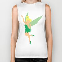 tinker bell Biker Tanks featuring Tinker bell by Dewdroplet