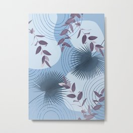 Blue Purple Abstract Shapes #1 #minimal #tropical #decor #art #society6 Metal Print