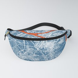 PITTSBURGH Map   Blue   More Colors, Review My Collections Fanny Pack