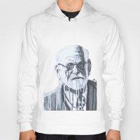 freud Hoodies featuring Sigmund Freud by Sobottastudies