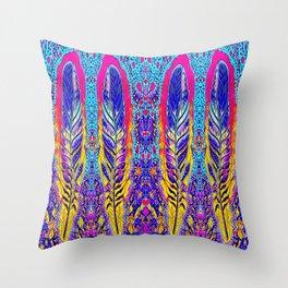 Bohemian Feathers Throw Pillow