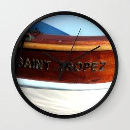 Saint Tropez Row Boat Wall Clock