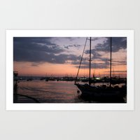 Life in the sunset Art Print