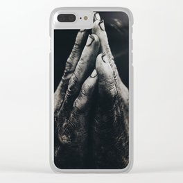 Hand in glove Clear iPhone Case