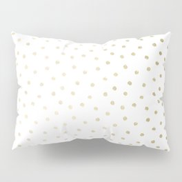 Delicate Gold Polka Dots Pillow Sham