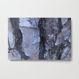Cracked Bark Metal Print