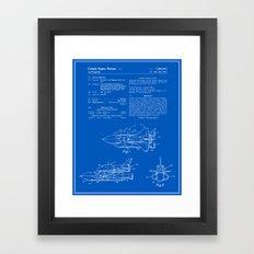 Space Shuttle Patent - Blueprint Framed Art Print