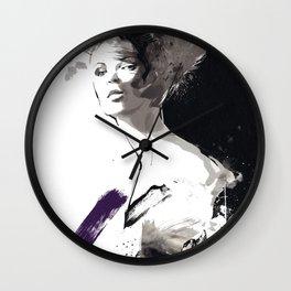 Fashion Painting, Fashion IIlustration, Vogue Portrait, Fashion Beauty, Black and White colours, #10 Wall Clock