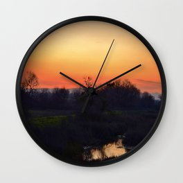 Sunset at the sanctuary  Wall Clock