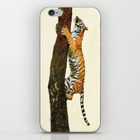 climbing iPhone & iPod Skins featuring Tree Climbing by Peaky40