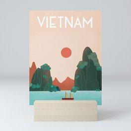Vietnam travel poster Mini Art Print