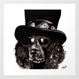 Slash Poodle Art Print