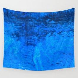 In liquid Indigo Wall Tapestry